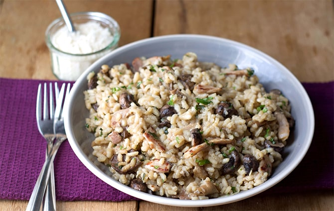 Risotto with mushrooms and ham with Thermomix