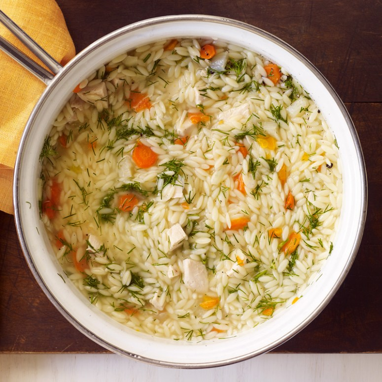 Chicken, Vegetable And Orzo Soup